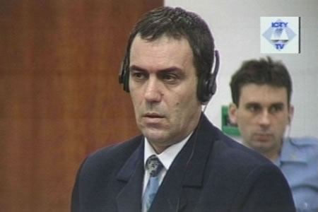 Zoran Zigic in the courtroom