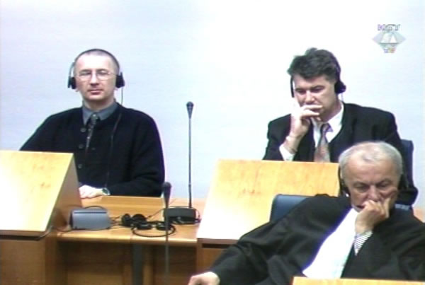 Dario Kordic and Mario Cerkez in the courtroom