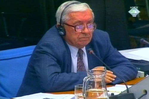 Mitar Balevic, witness in the Milosevic trial