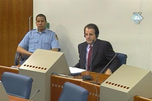 Sefer Halilovic in the courtroom