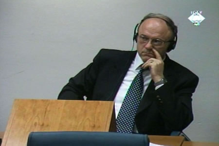 Stanislav Galic in the courtroom