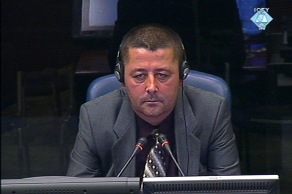Vojislav Dabic, witness at the Vojislav Seselj trial