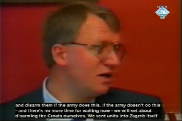 Footage from the interview with Seselj in 1991