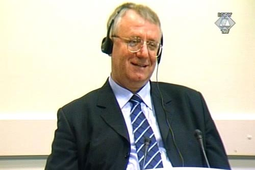 Vojislav Seselj in the courtroom
